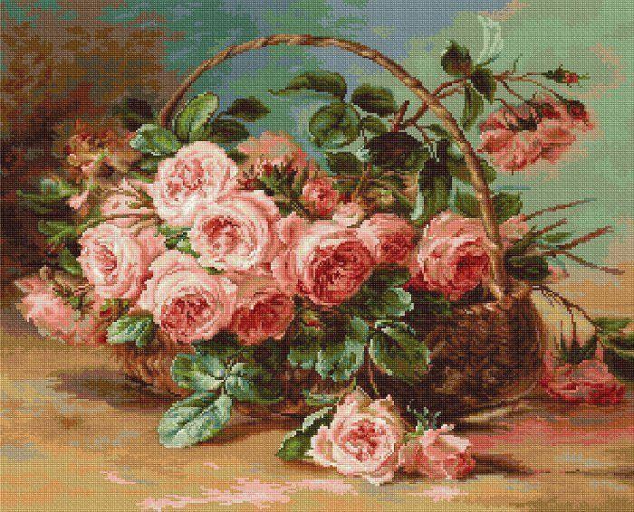 Картины с розами для вышивки 764